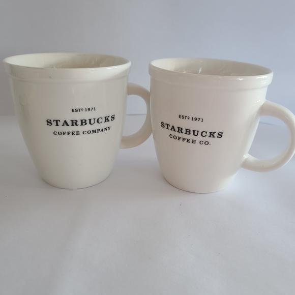 Vintage Starbucks Barista coffee mugs 2006 white